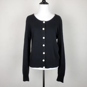 Milly of New York Cashmere Pearl Button Sweater